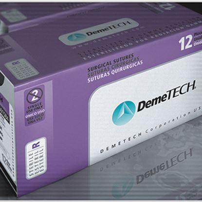 Picture of DemeTECH PGA Coated Sutures 12/bx