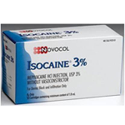 Picture of Isocaine 3% Plain 50/bx- Septodont