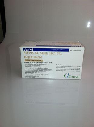 Picture of Mepivacaine HCL 3% Plain 50/bx AKA Carbocaine, Isocaine, Polocaine