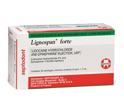 Picture of Lignospan Forte Lidocaine 2% 1:50,000 w/ Epi - Septodont