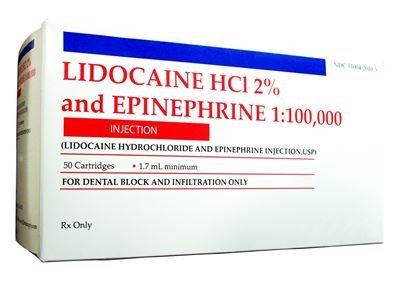 Picture of Lidocaine HCL 2% w/ epi Injection