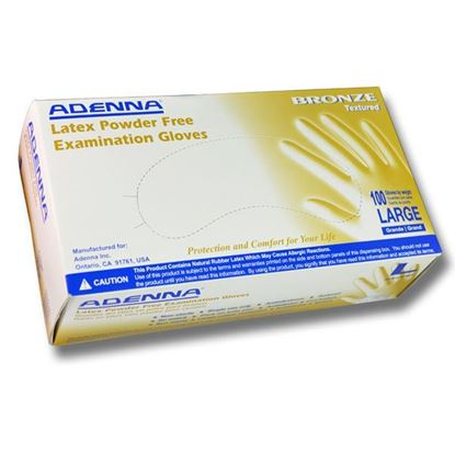 Picture of Bronze Latex Powder Free Exam Gloves - Adenna - 100/bx