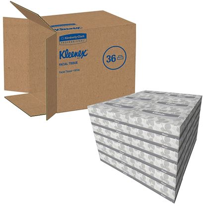 Picture of Facial Tissue Kleenex White - Case/36