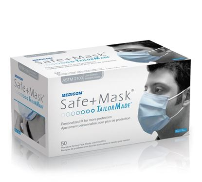 Picture of Safe+ Mask - TailorMade Dual Fit Earloop  Mask - Medicom - Level 3