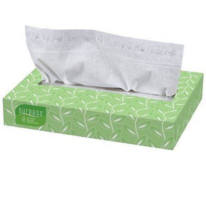 Picture of Facial Tissue Surpass* White 8 X 8-2/5 Inch - 100/bx