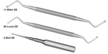 Picture of Surgical curette Molt 2/4 -  D/E - hexagon handle